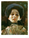 Portrait En Face of a Woman Giclee Print by Gustav Klimt