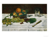 Still Life: Fruit on a Table, 1864 Giclee Print by Édouard Manet
