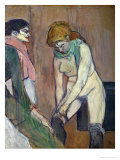 Woman Pulling on Her Stockings, 1894 Giclee Print by Henri de Toulouse-Lautrec