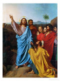 Jesus Giving the Keys to St. Peter Giclee Print by Jean-Auguste-Dominique Ingres