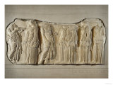 Fragment of the Frieze of the Panatheneans: The Ergastine Reproduction proc&#233;d&#233; gicl&#233;e