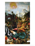 The Temptation of Saint Anthony- a Panel from the Isenheim Altar Giclée-tryk af Matthias Grünewald