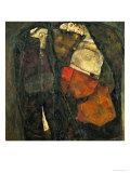 Pregnant Woman and Death Impression giclée par Egon Schiele