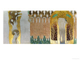 The Beethoven Frieze Gicléedruk van Gustav Klimt