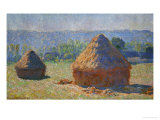 The Haystacks, End of Summer, Giverny, 1891 Giclee Print by Claude Monet