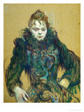 Woman with Black Feather Boa, 1892 Giclee Print by Henri de Toulouse-Lautrec