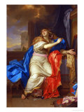 Saint Mary Magdalen Renounces All Pleasures of Life Lámina giclée por Charles Le Brun