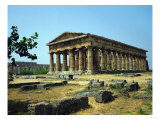 View of the Temple of Neptune, Doric, 5th BCE Giclee Print