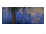 Waterlilies and Willows Giclee Print by Claude Monet