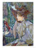 Woman with Gloves (Honorine Platzer), 1891 Giclee Print by Henri de Toulouse-Lautrec