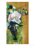Jane Avril Dancing, 1891 Giclee Print by Henri de Toulouse-Lautrec