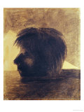 Head of Orpheus Drifting on the Waters, or the Mystic, 1880 Giclee Print by Odilon Redon