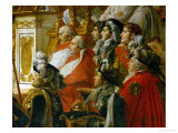 Coronation of Napoleon in Notre-Dame De Paris by Pope Pius VII, December 2, 1804 Lmina gicle por Jacques-Louis David