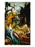 Saint Anthony Visits Saint Paul the Hermit Giclee Print by Matthias Grünewald