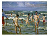 Bathing Boys, 1900 Reproduction procédé giclée par Max Liebermann