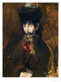 Portrait of Berthe Morisot with Veil, 1872 Giclee Print by Édouard Manet