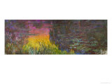 Waterlilies, Sunset Lámina giclée por Claude Monet