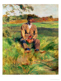 A Farmhand on the Estate at Celeyran, 1882 Giclee Print by Henri de Toulouse-Lautrec