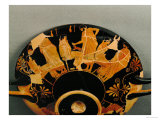 Men and Their Young Lovers, Red-Figured Cup, circa 480 BC Giclee Print by Douris