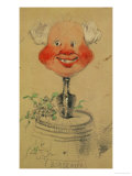 Bordeaux Wine, Caricature, 1857, Drawing Giclee Print by Claude Monet