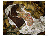 Death and the Maiden, 1915 Giclee-vedos tekijn Egon Schiele