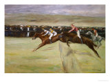 Horse Races in the Cascine, Florence, Italy, 1909 Giclee Print by Max Liebermann