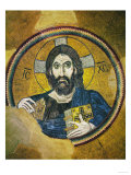 Christ Pantocrator, Mosaic in the Dome of the Church, Byzantine 11th Century Giclee Print