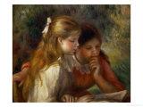 Reading (La Lecture), 1890-1895 Giclée-tryk af Pierre-Auguste Renoir