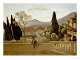 The Gardens of Villa D'Este, 1843 Giclee Print by Jean-Baptiste-Camille Corot