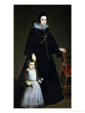 Dona Antonia Ipenarrietta and Her Son, 1631 Giclee Print by Diego Velázquez