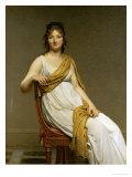 Henriette Verniac, Nee Henriette Delacroix, Sister of Eugene Delacroix Giclee Print by Jacques-Louis David