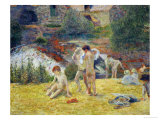 Boys from Brittany Bathing, or Bath at the Mill in the Bois D'Amour, 1886 Giclee Print by Paul Gauguin