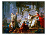 Jeroboam Sacrificing to the Idols Giclee Print by Jean-Honor&#233; Fragonard