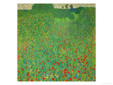 A Field of Poppies, 1907 Gicléedruk van Gustav Klimt