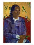 Tahitian Woman with a Flower, 1891 Giclee Print by Paul Gauguin