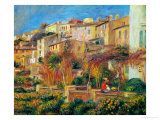 Terrace at Cagnes, 1905 Reproduction proc&#233;d&#233; gicl&#233;e par Pierre-Auguste Renoir