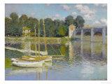 Bridge at Argenteuil Giclée-tryk af Claude Monet