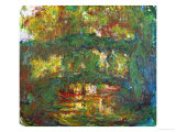 The Japanese Bridge at Giverny, 1918-1924 Giclee Print by Claude Monet
