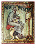 Gospel of Ebbo, France, 9th, Saint Luke Evangelist Giclee Print
