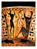 The Blinding of Polyphemus, 7th circa BCE, Early Attic Amphora, Black-Figured Reproduction procédé giclée