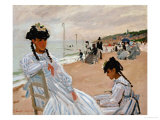 On the Beach at Trouville, 1870-71 Giclee Print by Claude Monet