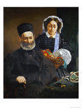 M. and Mme. Auguste Manet, the Painter&#39;s Parents, circa 1860 Giclee Print by &#201;douard Manet