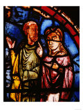 Stained Glass, 13th circa Noah and His Wife Boarding the Ark from the Noah Window Giclee Print