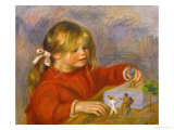 Claude Renoir Playing, 1905 Giclee Print by Pierre-Auguste Renoir