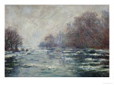 The Ice Breaking Near Vetheuil, 1880 Giclee Print by Claude Monet