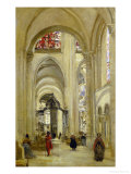 The Cathedral of Sens, View of the Interior, 1874 Giclee Print by Jean-Baptiste-Camille Corot