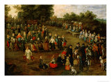 Folk Dance Before the Archdukes (Detail) Giclee Print by Jan Brueghel the Elder