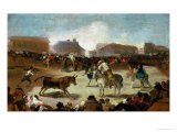 A Bullfight in a Village, 1812-1814 Giclee Print by Francisco de Goya
