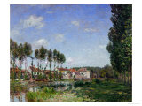 Moret, Bords Du Loing, France Giclee Print by Alfred Sisley