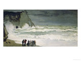 High Seas in Etretat, 1868-69 Giclee Print by Claude Monet